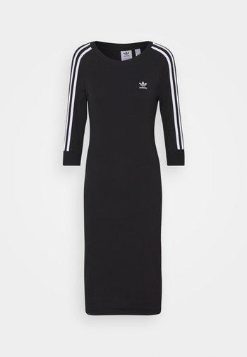 3 STRIPES DRESS - Day dress - black