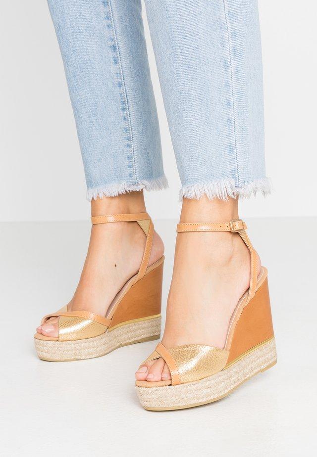 NICOLE - Højhælede sandaletter / Højhælede sandaler - nelson peanut