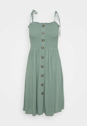 ONLANNIKA SMOCK DRESS - Day dress - chinois green