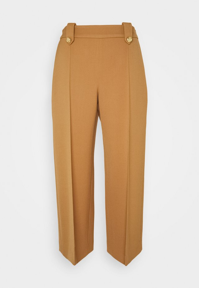 PATRICIA TROUSERS WOVEN - Trousers - dark beige