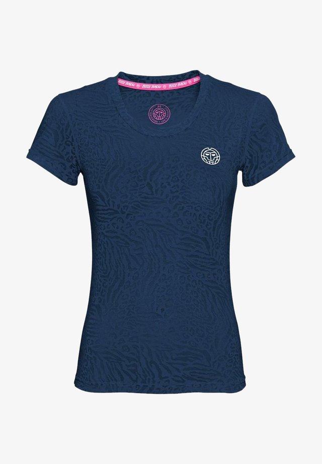 ANNI - Print T-shirt - dunkelblau