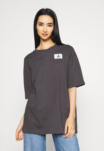 W J ESSEN TEE - Basic T-shirt - thunder grey/heather black