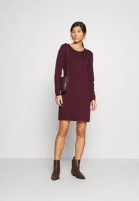 edc by Esprit - DRESS - Jumper dress - bordeaux red - 1