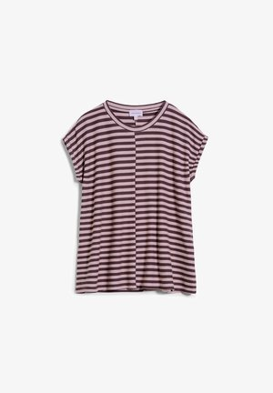 JAARIN  - Print T-shirt - aubergine-kinoko
