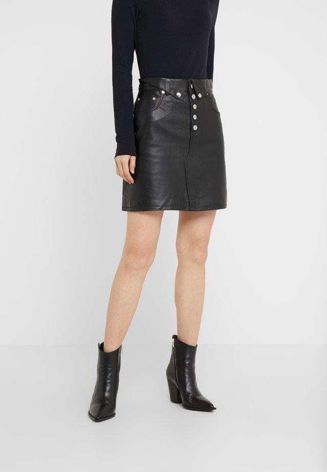 JUPE - Minifalda - black
