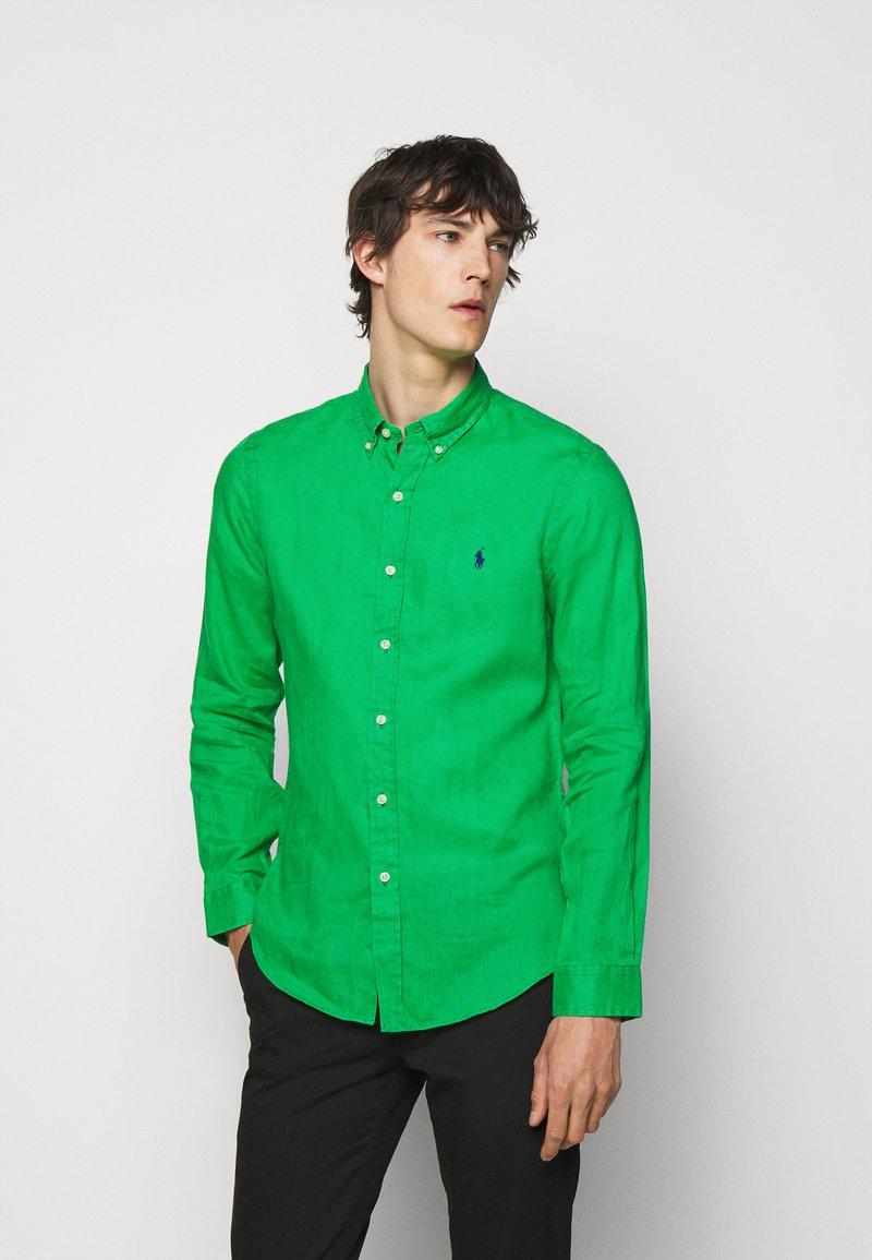 Polo Ralph Lauren - SLIM FIT LINEN SHIRT - Shirt - golf green