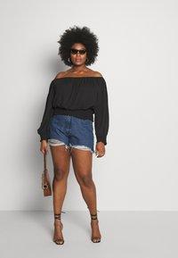 Missguided Plus - EXTREME FRAY HEM RIOT - Shorts di jeans - indigo - 1