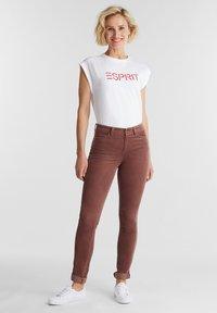 Esprit - Trousers - dark mauve - 1