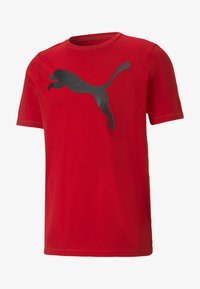 Puma - T-shirt con stampa - high risk red - 0