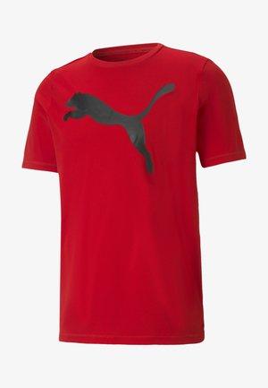 T-shirt med print - high risk red