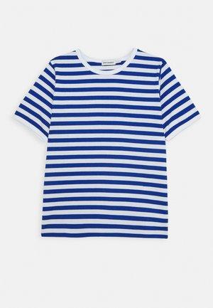LASTEN LYHYTHIHA - T-shirt imprimé - white/blue