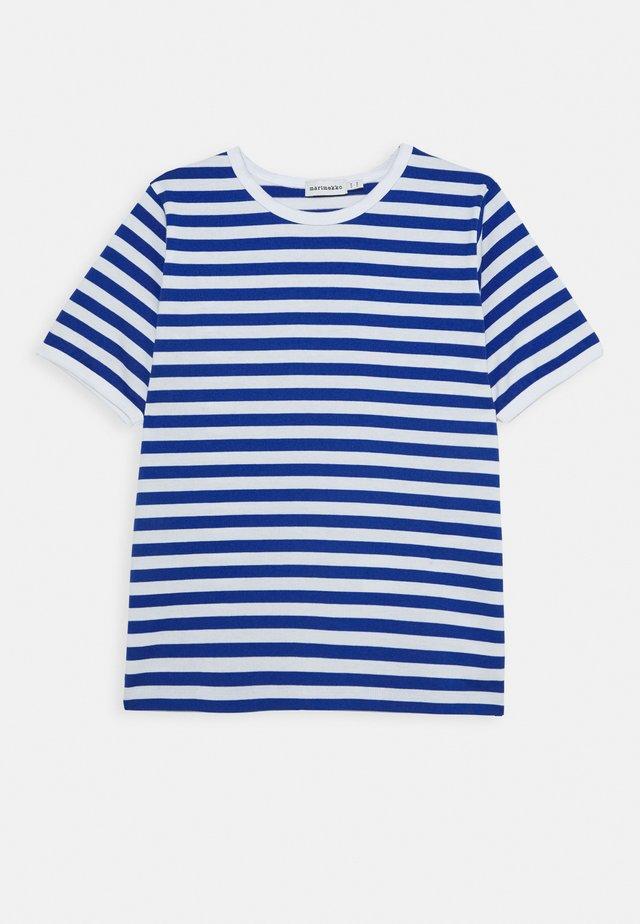 LASTEN LYHYTHIHA - T-shirt con stampa - white/blue