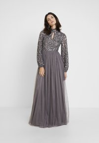Maya Deluxe - BISHOP SLEEVE DELICATE SEQUIN  WITH KEYHOLE - Occasion wear - charcoal - 0