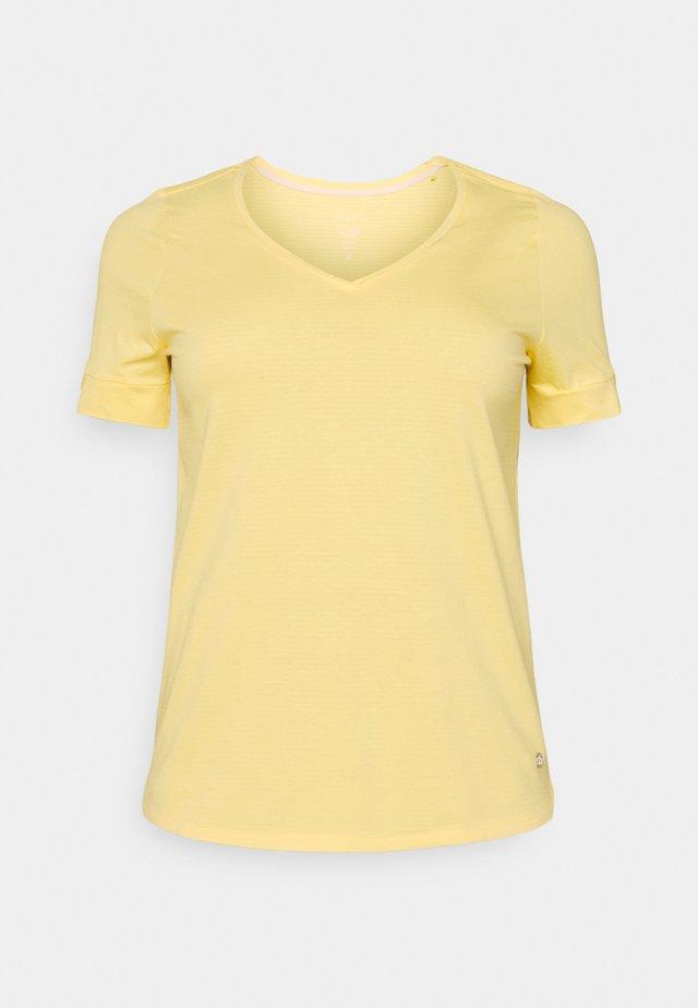 CUFF DETAIL - Camiseta estampada - mellow yellow