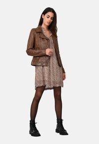 Oakwood - FOLLOW - Leather jacket - brown - 1
