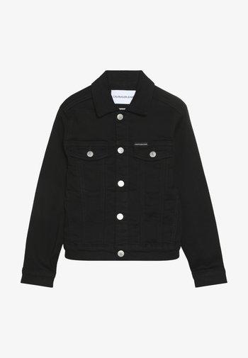 UNISEX TRUCKER - Džínová bunda - black