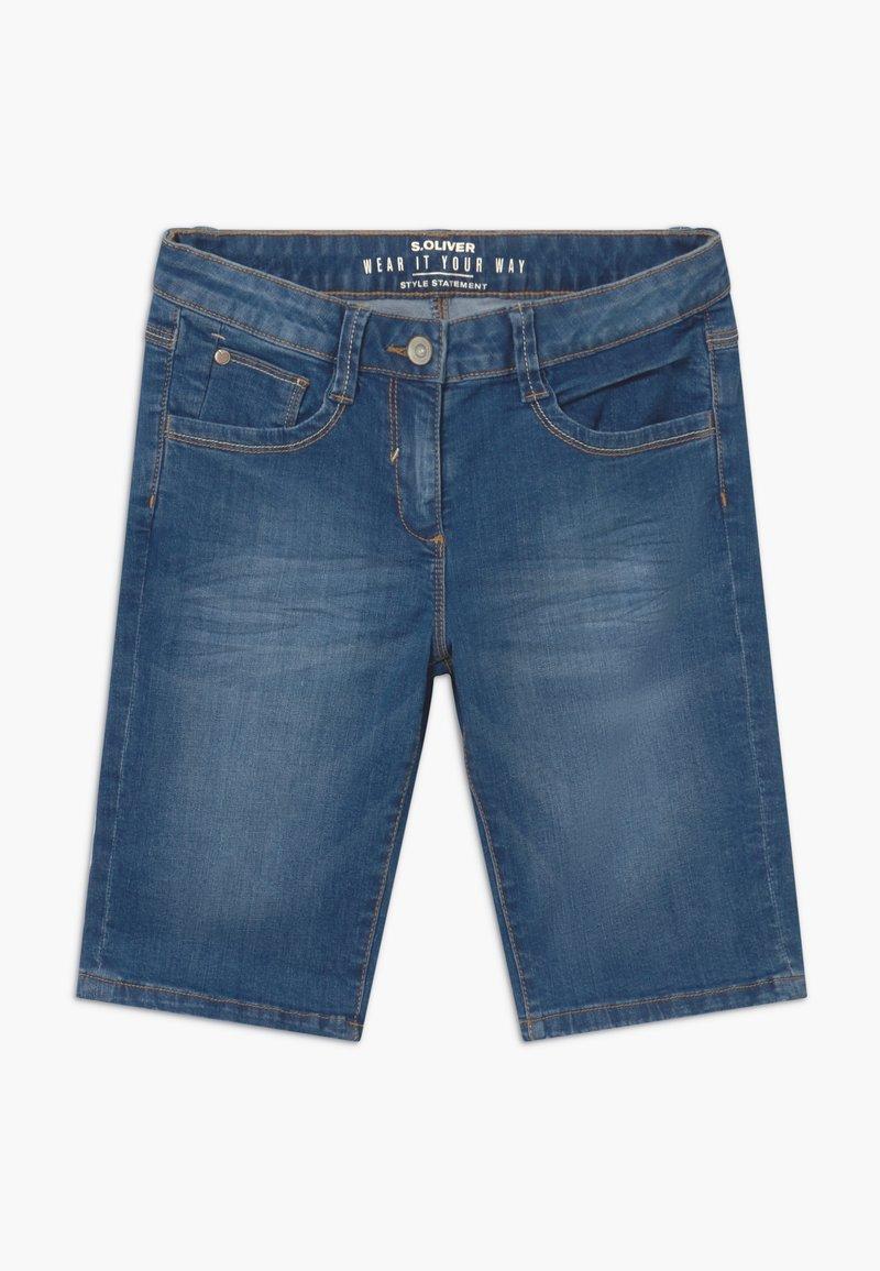 s.Oliver - BERMUDA - Denim shorts - blue stone