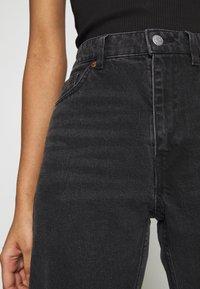 Monki - MOLUNA  - Jeans straight leg - black dark - 6