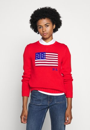 FLAG - Strickpullover - african red