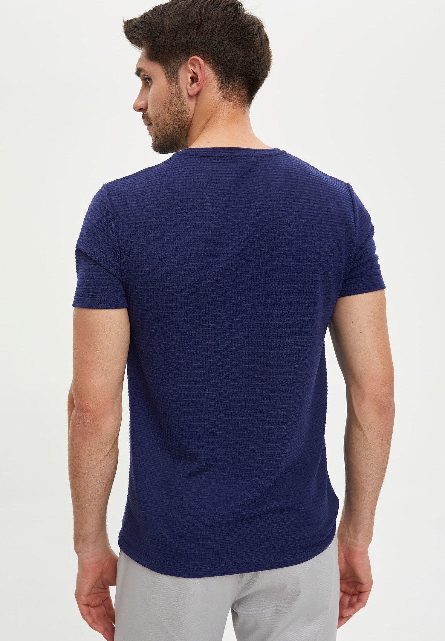 DeFacto Basic T-shirt - indigo mvfic