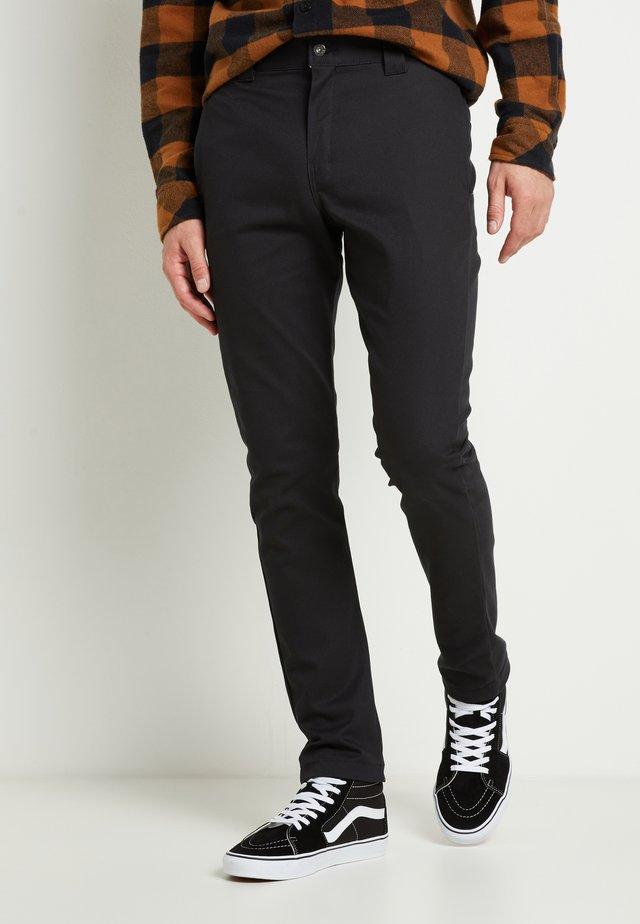 SLIM SKINNY WORK PANT - Chino kalhoty - black