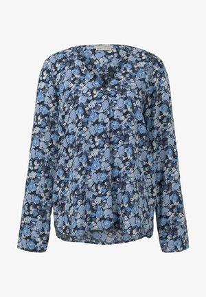 Blouse - blue flower print