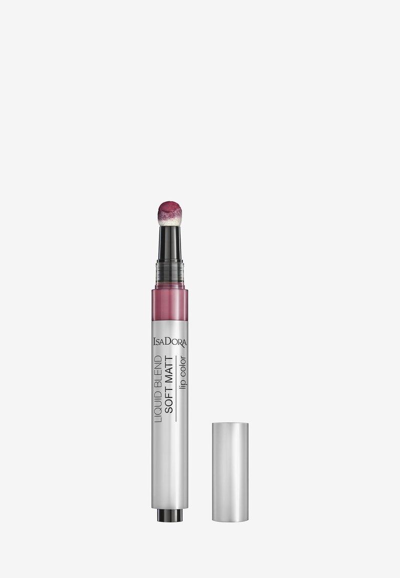IsaDora - LIQUID BLEND SOFT MATT LIP COLOR - Liquid lipstick - deep plum