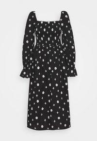 Never Fully Dressed - CROSS EMBROIDERED MIDI - Denní šaty - black - 6