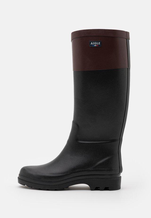 AIGLENTINE BLOCK - Stivali di gomma - noir/sureau