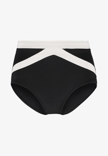 POPBLOCK HIGH WAISTED PANT - Bikini bottoms - black