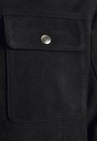 Selected Homme - SLHICONIC BLOUSON - Kožená bunda - black - 8