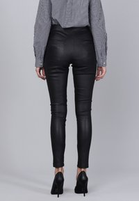 Basics and More - Leather trousers - black - 1