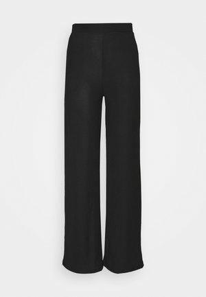WIDE POCKET PANTS - Pantalones - black