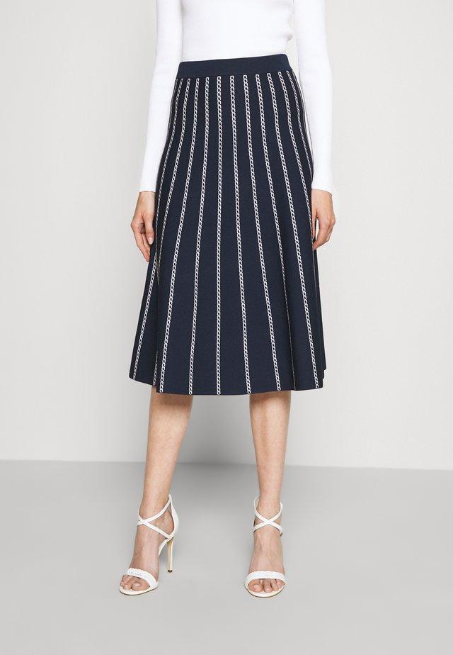 CHAIN SKIRT - A-line skirt - dark blue