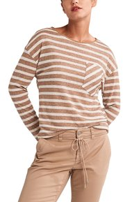 comma casual identity - Long sleeved top - brown stripes - 0