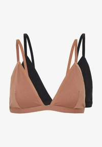 Odessa 2 pack triangle bra - Triangle bra - tan/black