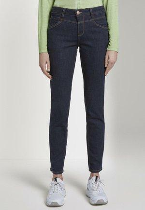 Slim fit jeans - rinsed blue denim