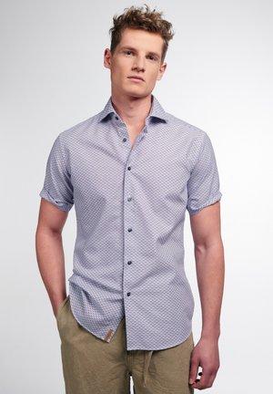 Shirt - blau/taupe