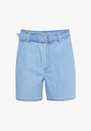 MIT HOHER TAILLE - Shorts vaqueros - light blue