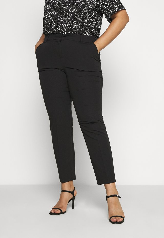 BUTTON TAPERED TROUSER - Trousers - black