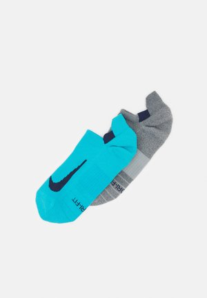 2 PACK UNISEX - Enkelsokken - light smoke grey/CHLORINE BLUE