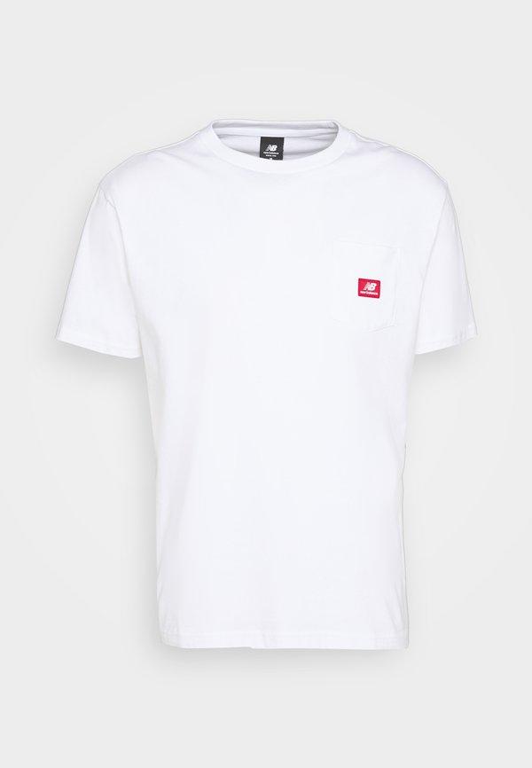 New Balance ATHLETICS POCKET - T-shirt basic - white/biały Odzież Męska QKKV