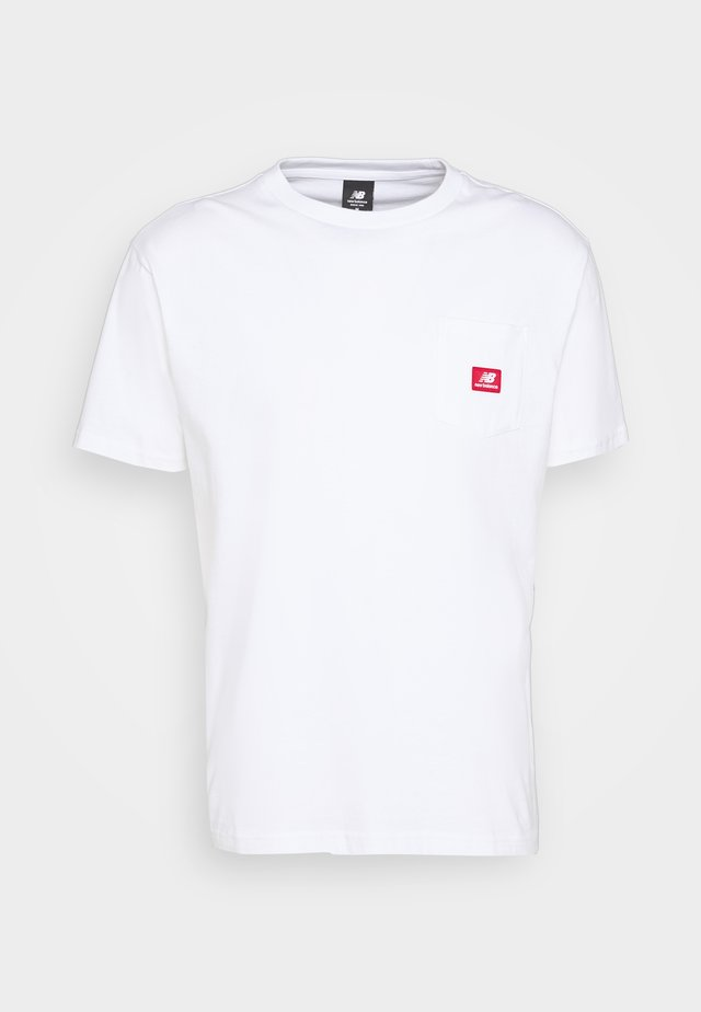 ATHLETICS POCKET - T-shirt basic - white