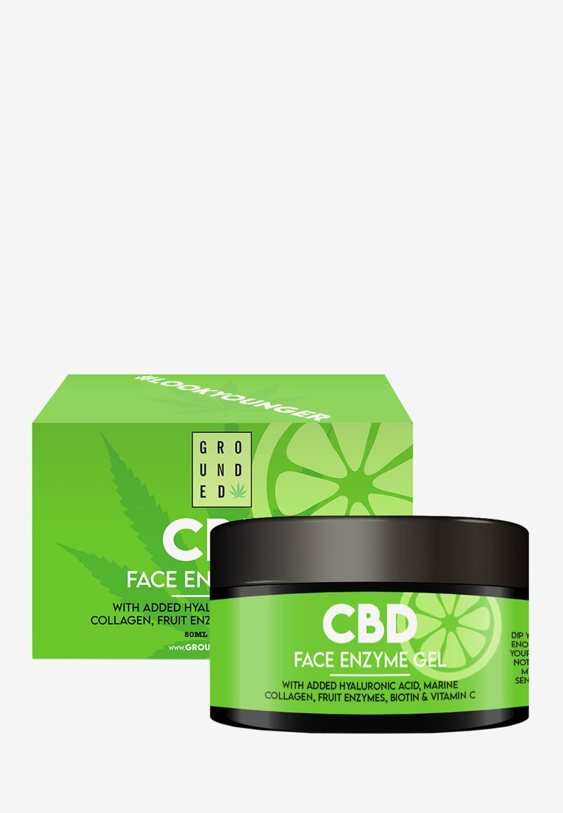 Grounded - CBD ENZYME GEL MASK - ANTI AGEING - Anti-Aging - black