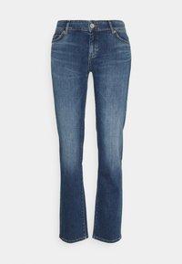 Marc O'Polo - TROUSER MID WAIST - Straight leg jeans - blue denim - 5