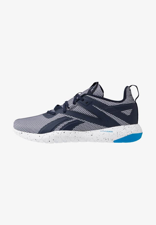 MEGA FLEXAGON - Scarpe da fitness - white/vector navy/horizon blue