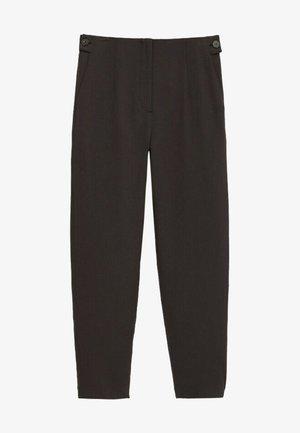MIT SEITLICHEN KNÖPFEN  - Trousers - dark grey