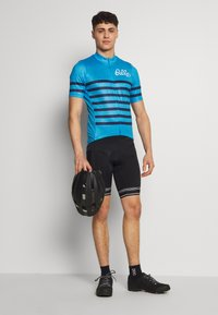 ODLO - STAND UP COLLAR FULL ZIP ELEMENT - T-Shirt print - blue aster melange/estate blue - 1