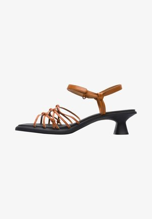 Sandaalit nilkkaremmillä - braun