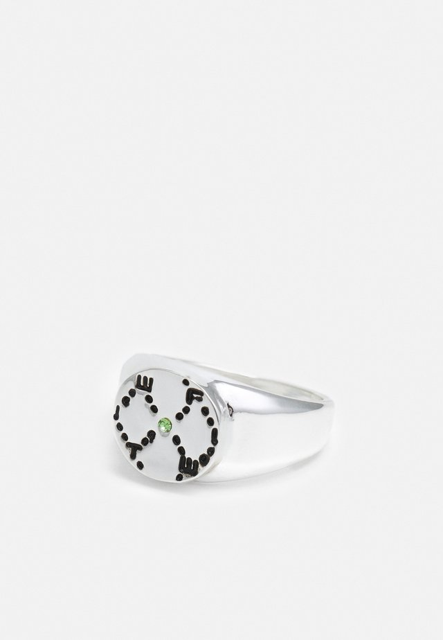 ROUND MONOGRAM  - Ring - silver-coloured